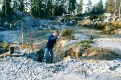 Handgräva rörgrav
