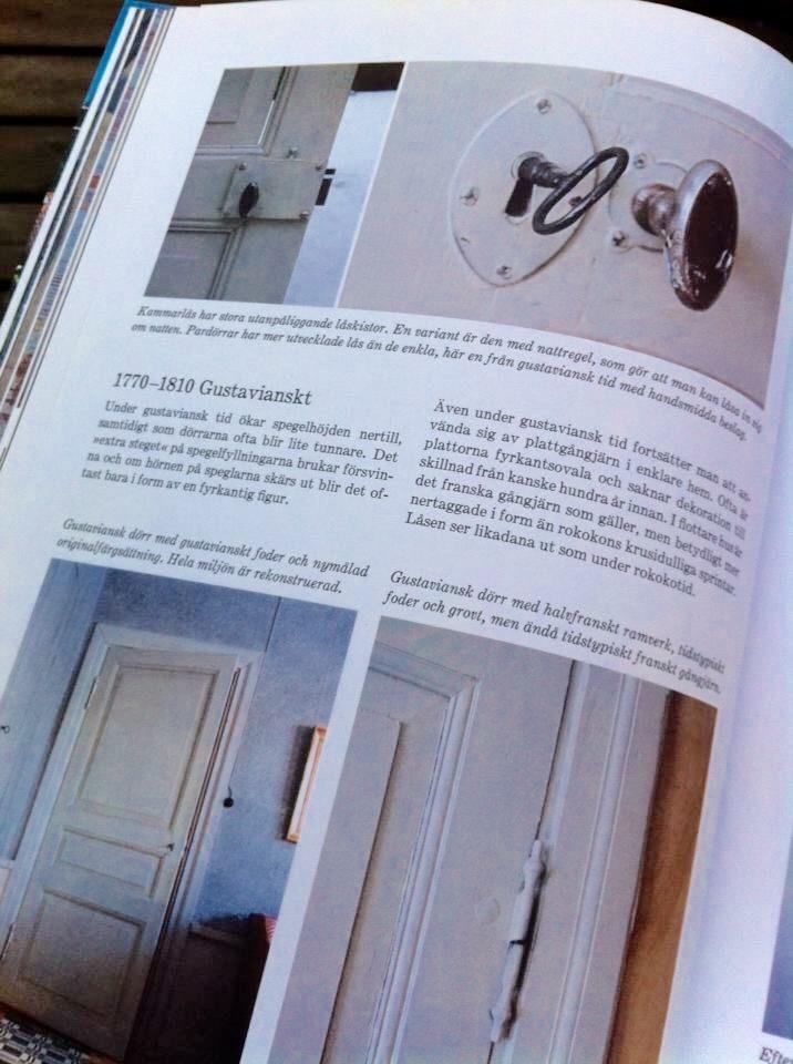Äldre kammarlåsdörrar ur Stora Boken om byggnadsvård