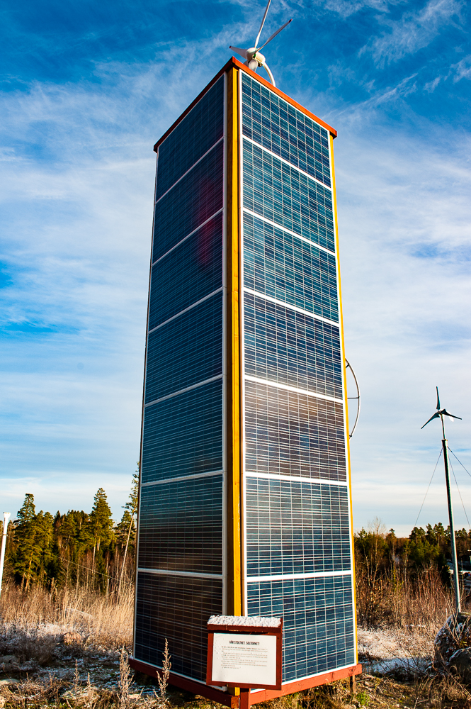 Solcellstornet - imponerande