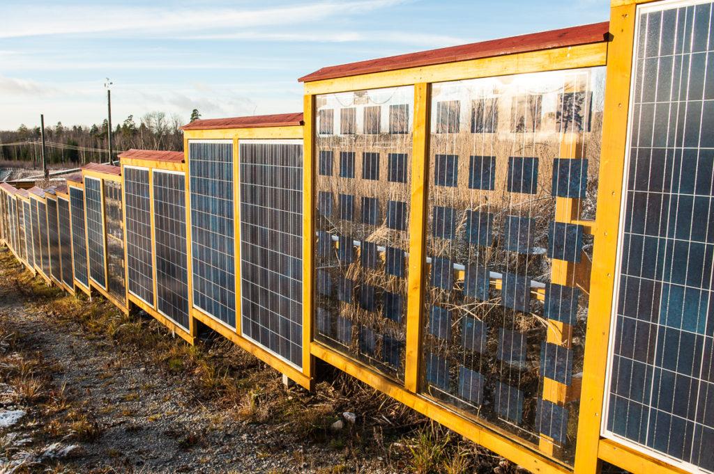 Solelsstaket - kom ihåg att göra det under 120cm, då är det bygglovsfritt!