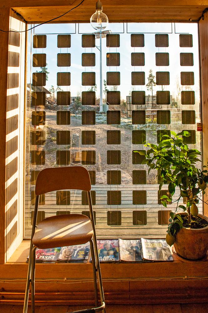 Solpanel som fönster